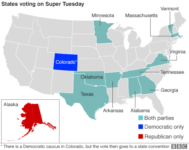 US Election 2016 Super Tuesday Tests Candidate  Beyond