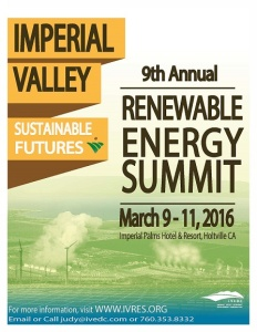 Imperial Valley Renewable Energy Summit. March 9-11