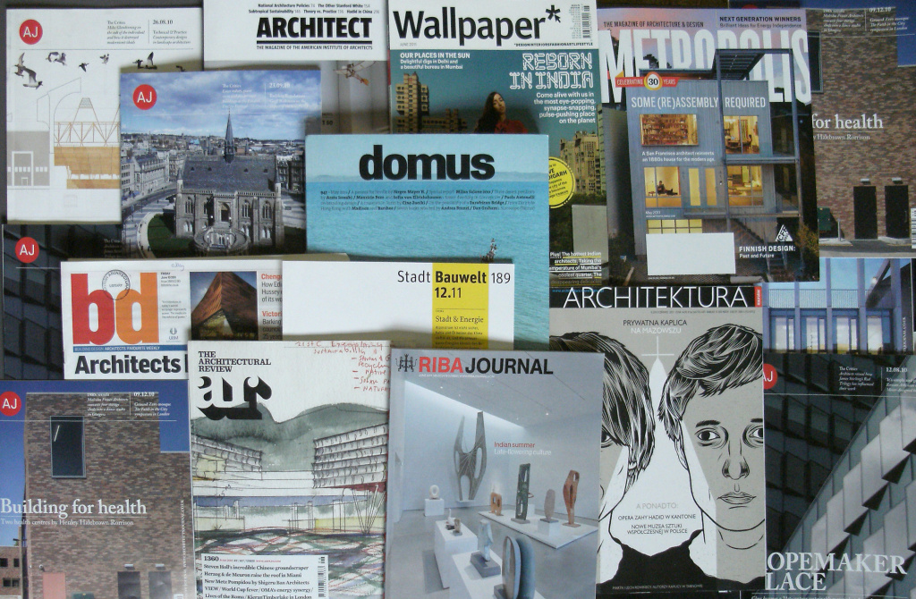 Display of periodicals from the Periodicals Collection, British Architectural Library, RIBA.
