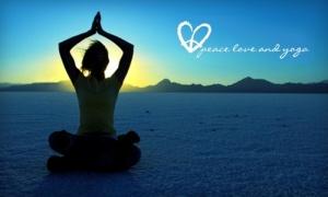 PEACE LOVE AND YOGA